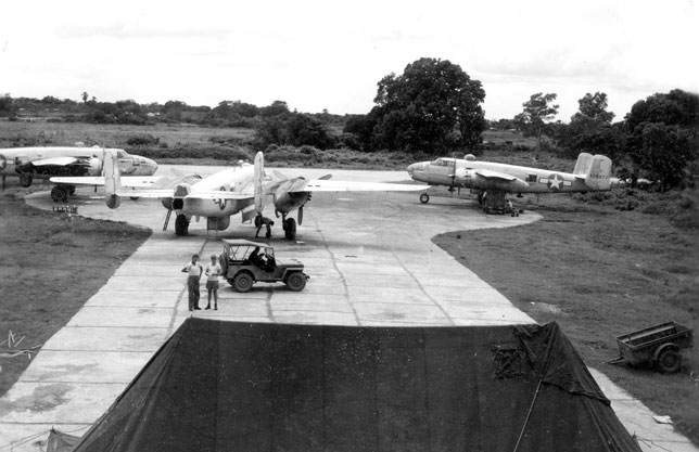 B-25Ds on the ramp in India