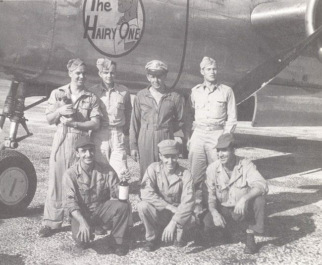 Photo of Spencer's B-25 Weather Crew in CBI