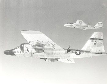 WB-57s in flight
